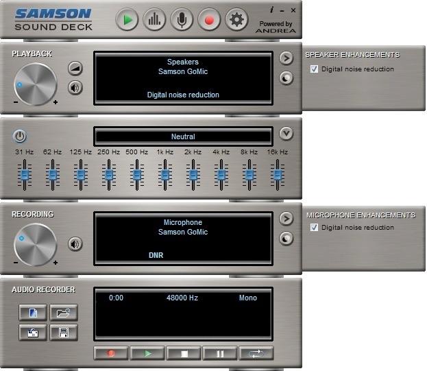 samson sound deck remove background noise