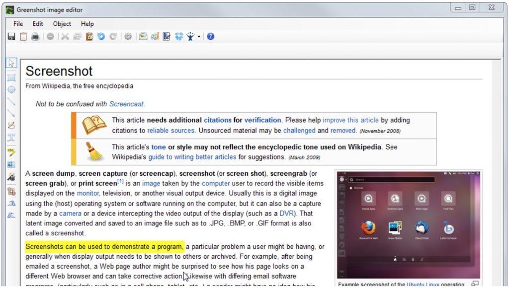 greenshot screenshot on windows 10