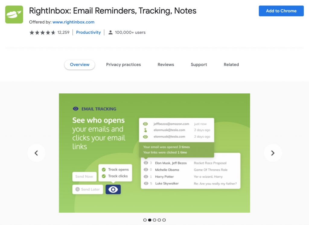 RightInbox: Email Remainders, Tracking, Notes
