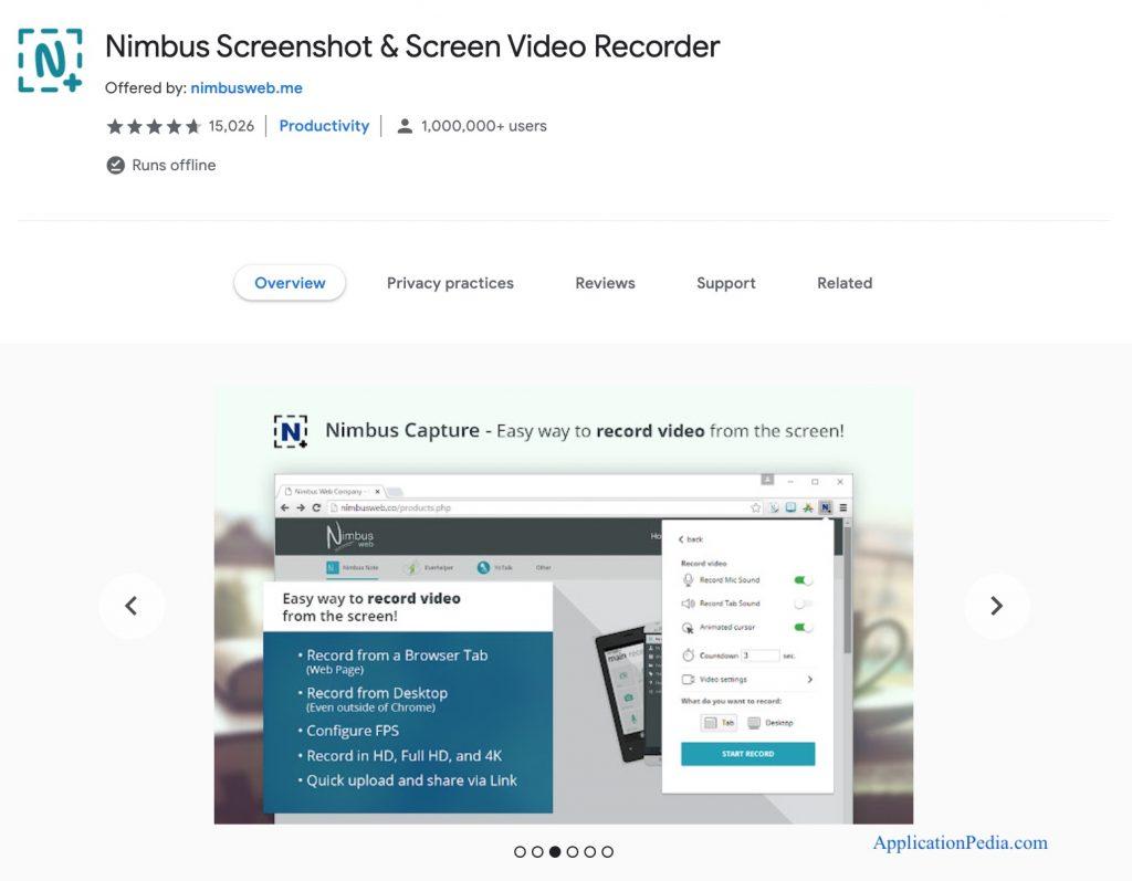Nimbus screenshot on chromebook