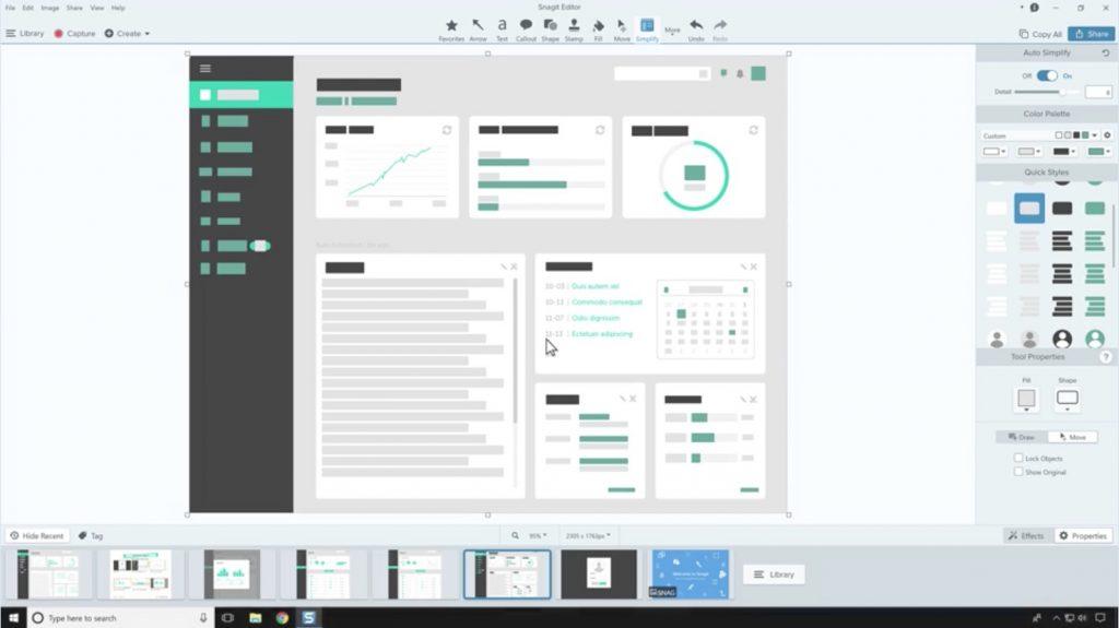 Snagit screenshot on Windows