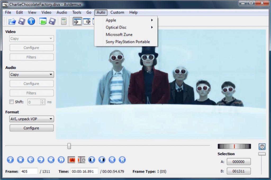 avidemux - free video editing software no watermark