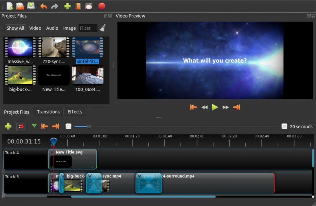 OpenShot - free video editing software no watermark